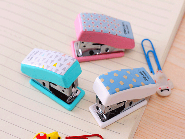 Mini Geometric Pattern Stapler