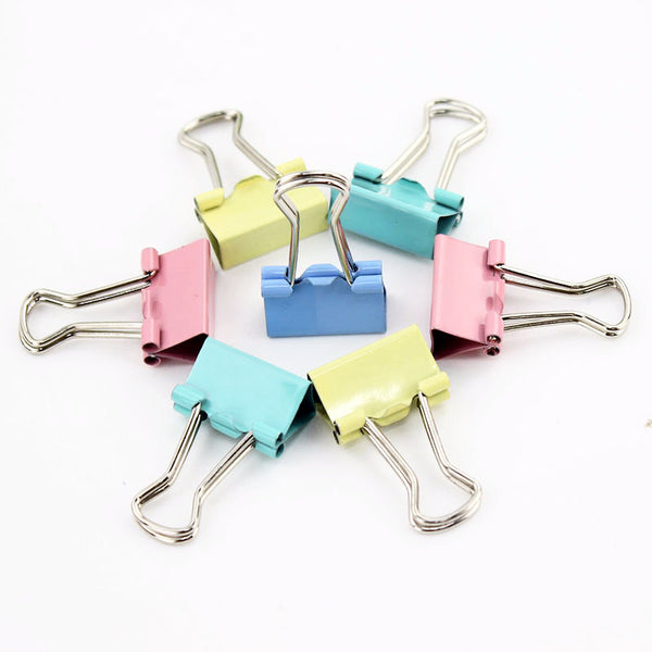 Mini Candy Color Binder Clips 15-pack 2
