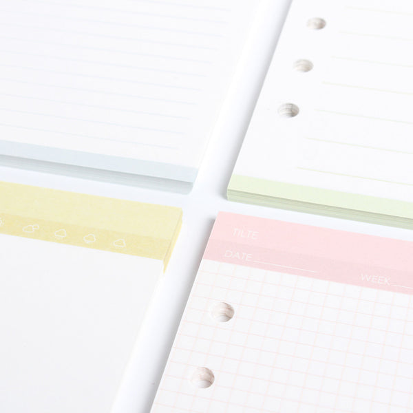 Simple Life Planner Refills Close Up