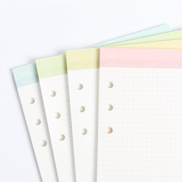 Simple Life Planner Refills Set Close Up