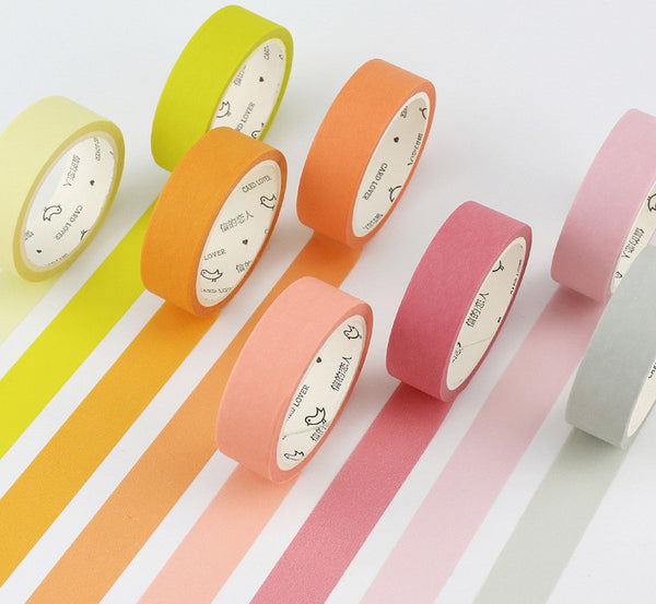 Simple Unicolor Washi Tape 2