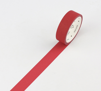 Simple Unicolor Washi Tape Auburn Red