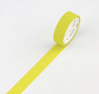 Simple Unicolor Washi Tape Brimstone Yellow