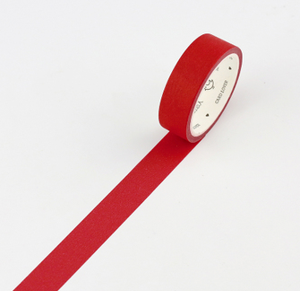 Simple Unicolor Washi Tape Carmine Red