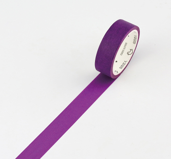 Simple Unicolor Washi Tape Palatine Purple