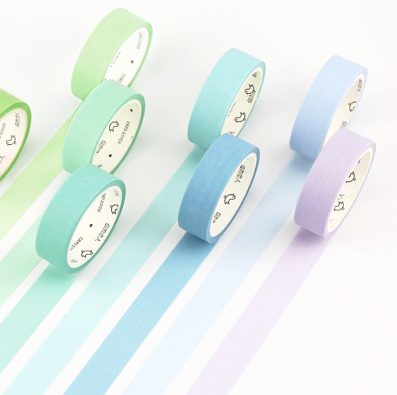 Simple Unicolor Washi Tape (24 Colors)