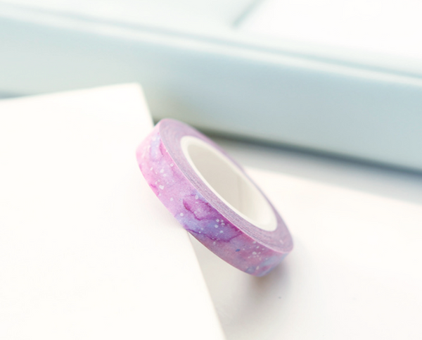 Slim Purple Watercolor Washi Tape 7