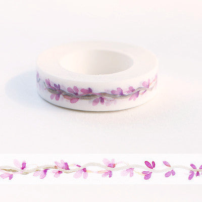 Slim Purple Watercolor Washi Tape 11