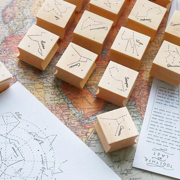 Star Constellation Wooden Stamp