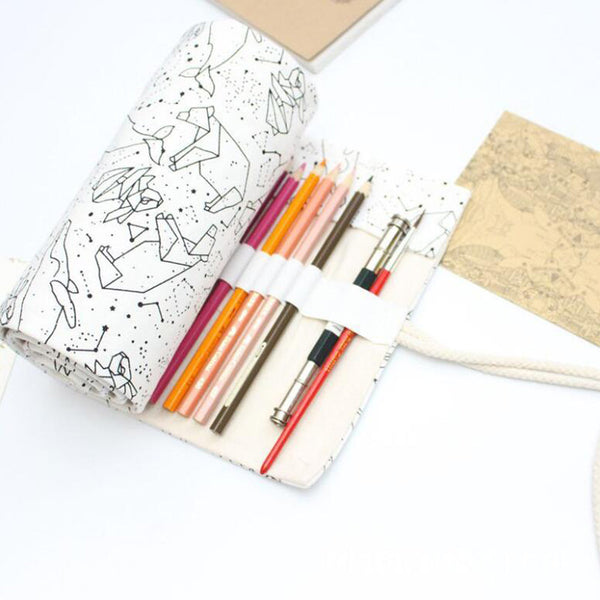 Star Constellations Roll Up Pencil Case