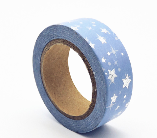 Starry Sky Washi Tape Silver and Blue