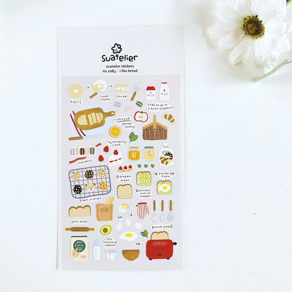 Suatelier Stickers - I Like Bread