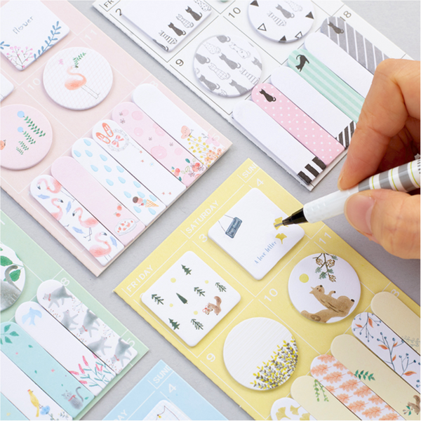 Sweet Animals Sticky Note 4-Pack