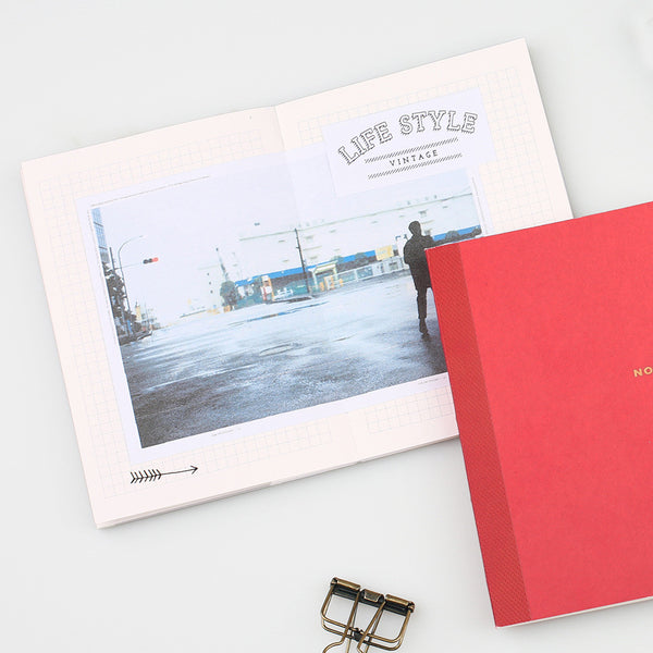 Sweet Life Unicolor Notebook Carmine Red