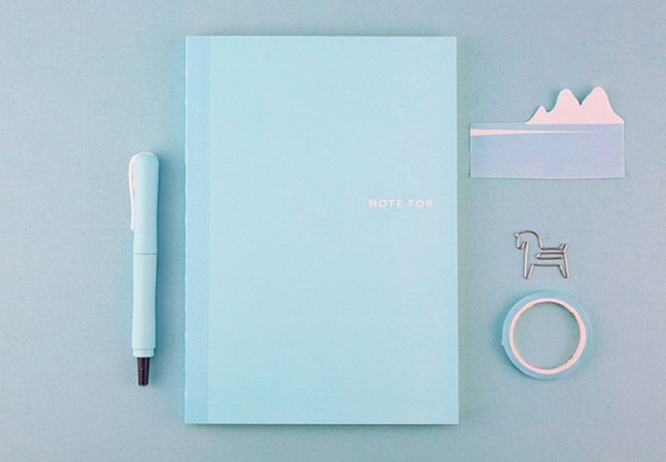 Sweet Life Unicolor Notebook Sky Blue 2