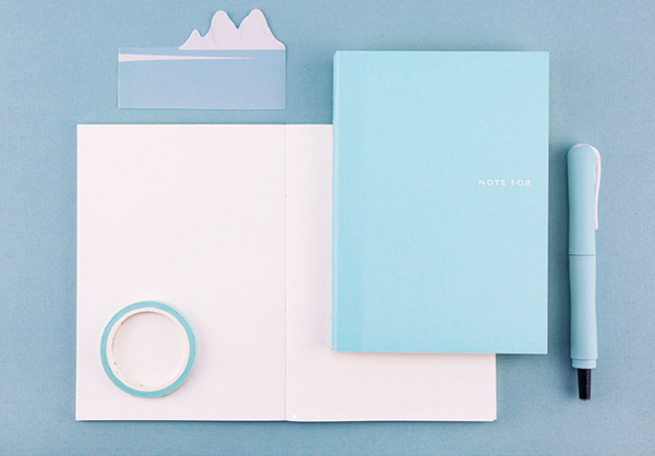 Sweet Life Unicolor Notebook Sky Blue