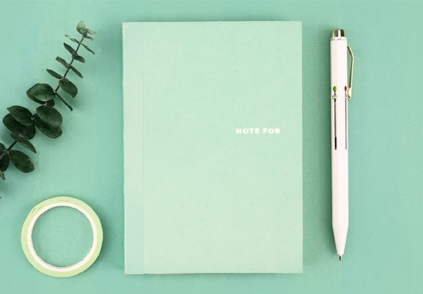 Sweet Life Unicolor Notebook Mint Green