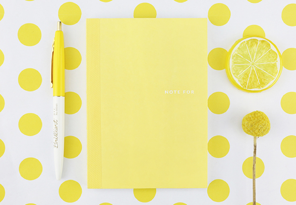 Sweet Life Unicolor Notebook Yellow 2