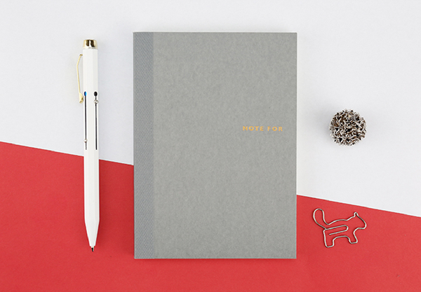 Sweet Life Unicolor Notebook Gray