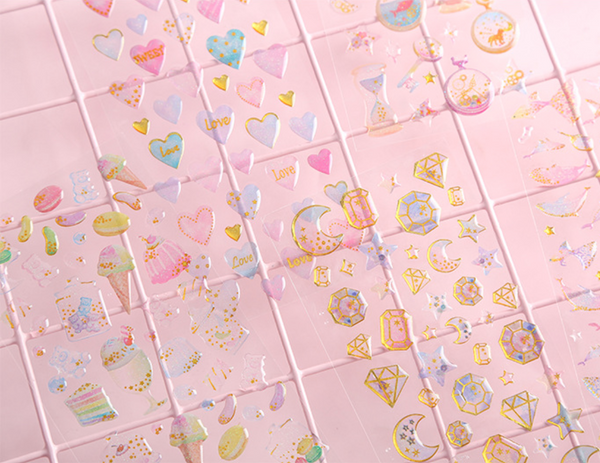 Sweet Love Puffy Stickers