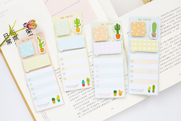 The Cactus Sticky Note Set 9