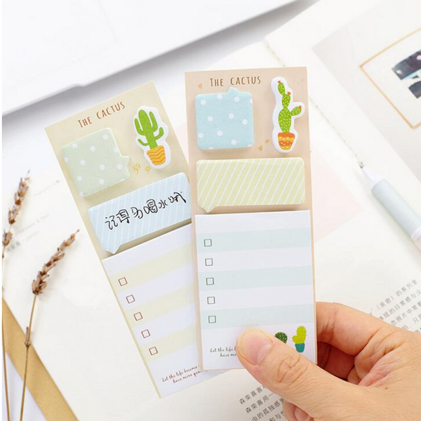 The Cactus Sticky Note Set