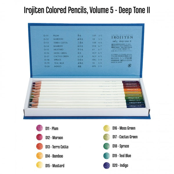 Tombow Irojiten Colored Pencil Dictionary - 30 Color Set 11