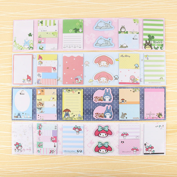 Totoro & My Melody Sticky Memo Set 6