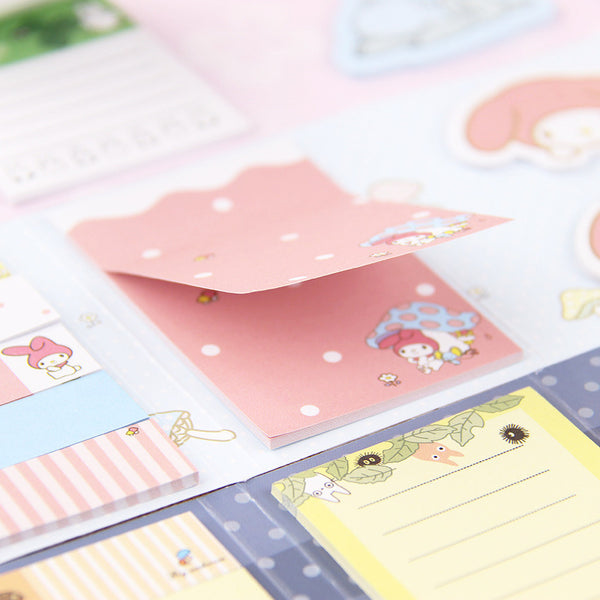 Totoro & My Melody Sticky Memo Set