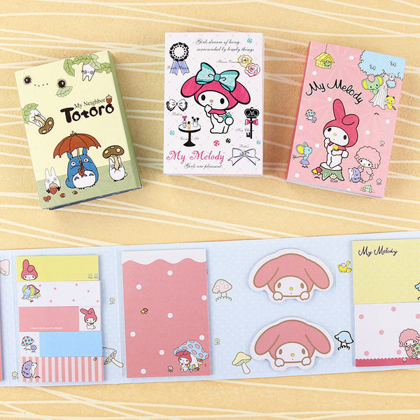 Totoro & My Melody Sticky Memo Set 4