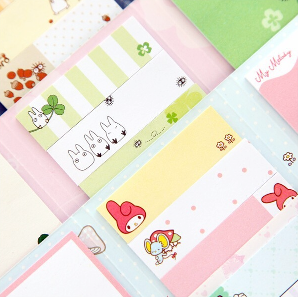 Totoro & My Melody Sticky Memo Set 7