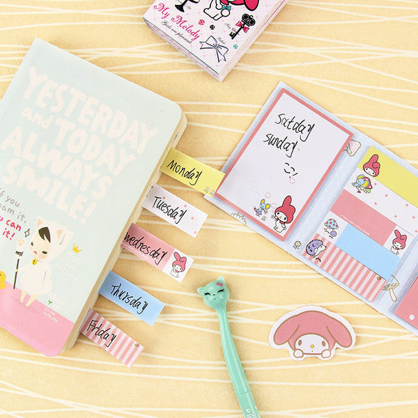 Totoro & My Melody Sticky Memo Set 5