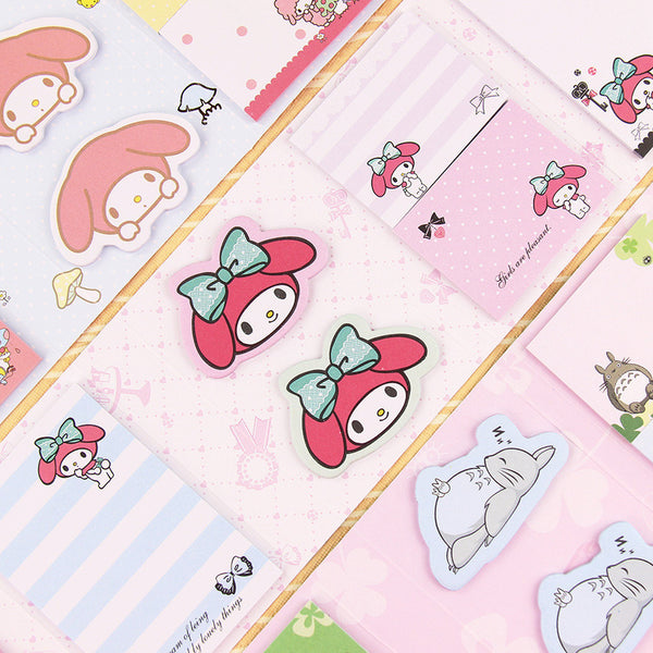 Totoro & My Melody Sticky Memo Set 8