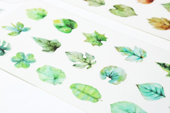 Green Leaves Decorative Stickers