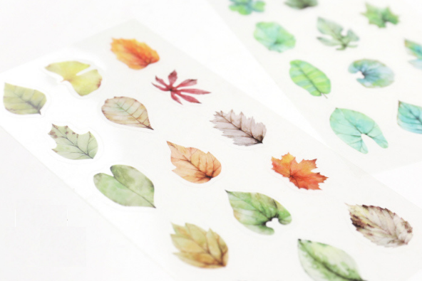 Tree Leaves Decorative Stickers Colors