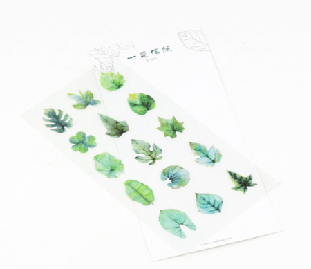 Tree Leaves Decorative Stickers Spring Set