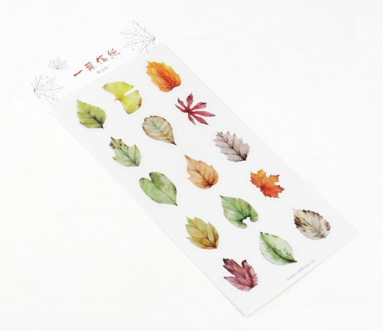 Tree Leaves Decorative Stickers Autumn Set