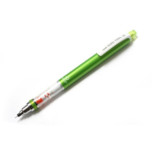 Uni Kuru Toga Auto Lead Rotation Mechanical Pencil Green