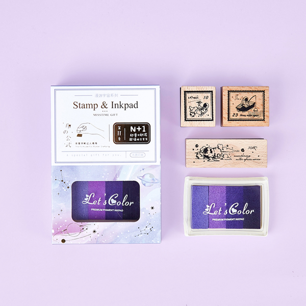 Universe Stamp & Ink Pad Set