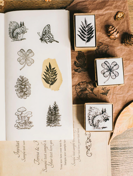 Vintage Forest Wooden Stamps