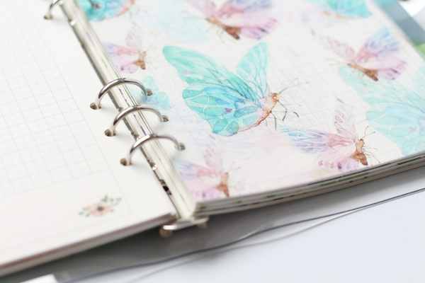 A5/A6 Watercolor Nature Planner Dividers 8