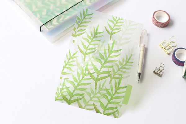 A5/A6 Watercolor Nature Planner Dividers 6