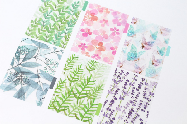 A5/A6 Watercolor Nature Planner Dividers 16