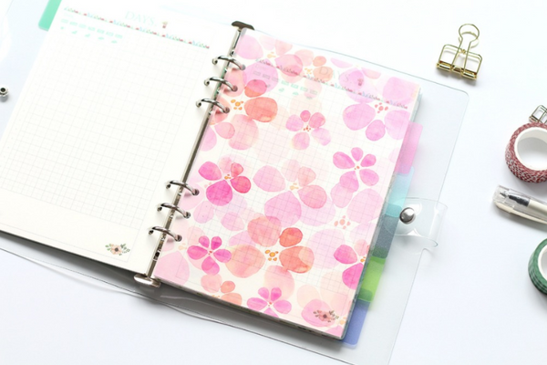 A5/A6 Watercolor Nature Planner Dividers 5