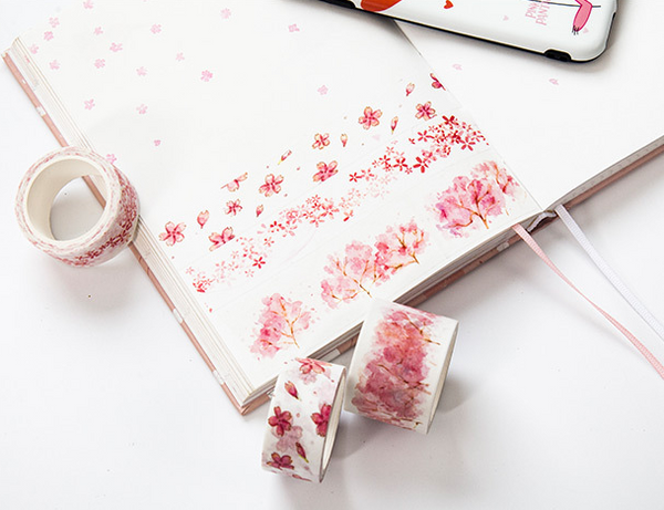 Watercolor Sakura Washi Tape 7