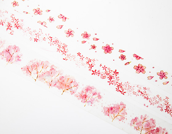 Watercolor Sakura Washi Tape 11