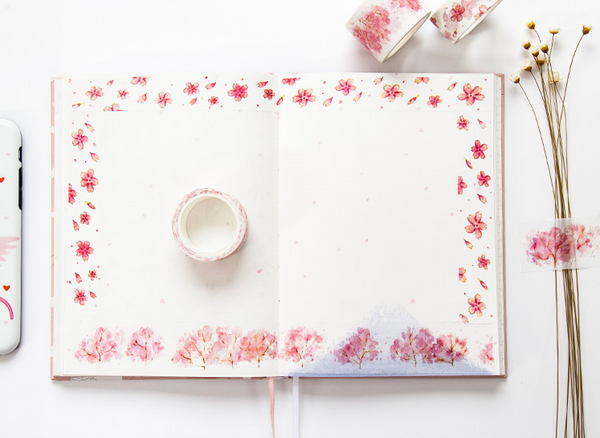 Watercolor Sakura Washi Tape 3