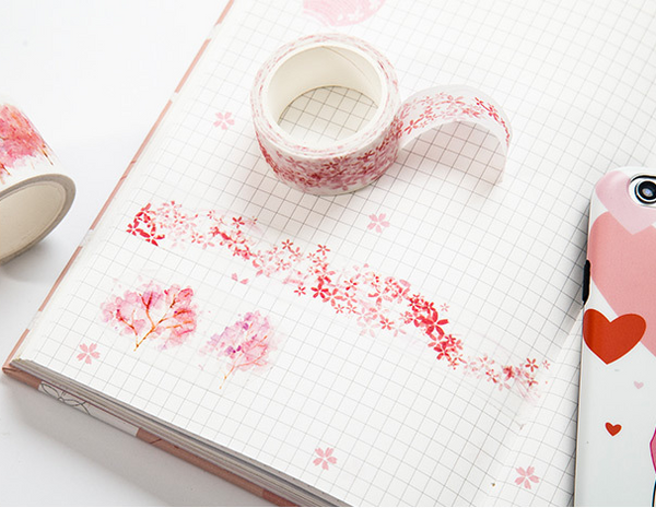 Watercolor Sakura Washi Tape 8