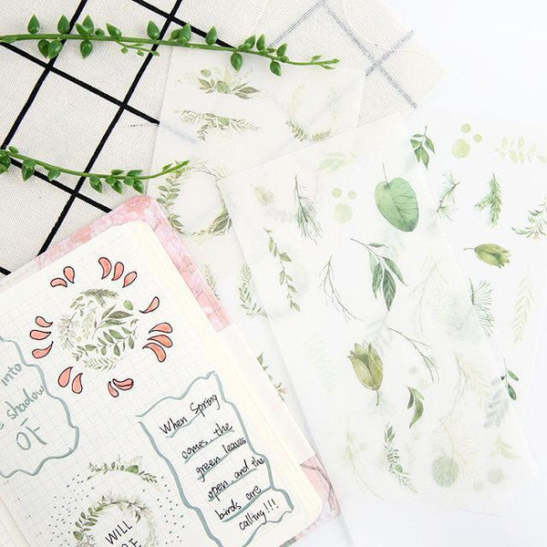 Wild Nature Sticker Set - Green Leaves