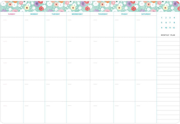 Ardium Flowery Journal Monthly Planner
